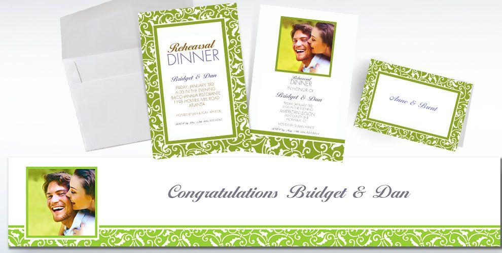 Kiwi Green Custom Wedding Invitations & Banners