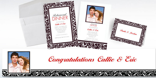 Black Wedding Custom Invitations and Banners #2
