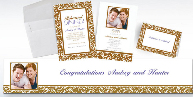 Gold Wedding Custom Invitations and Banners #2