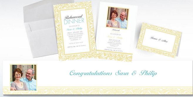 Vanilla Wedding Custom Invitations and Banners #2
