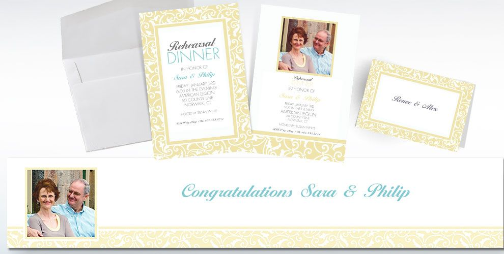 Vanilla Custom Wedding Invitations & Banners