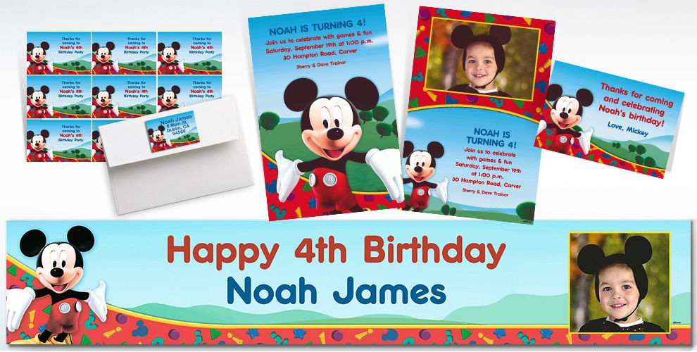 Mickey Mouse Custom Invitations & Thank You Notes