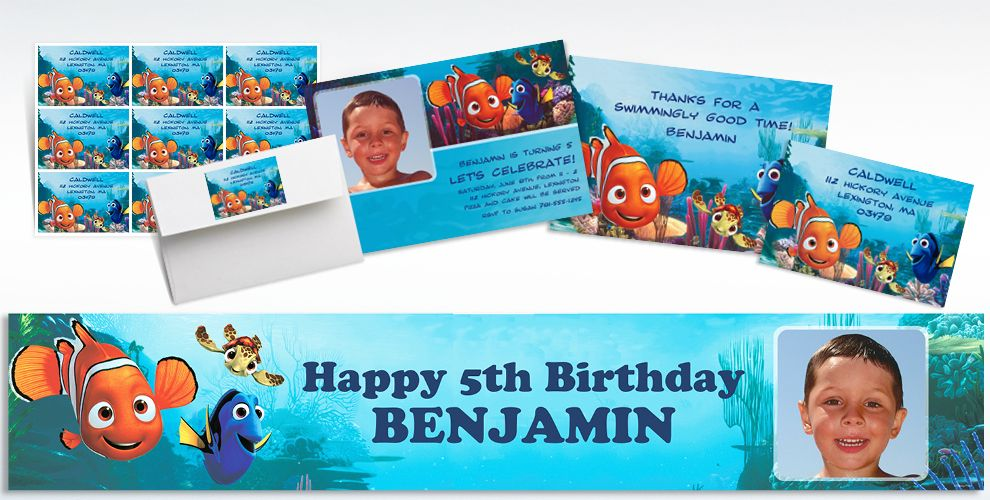 Finding Nemo Custom Invitations & Thank You Notes