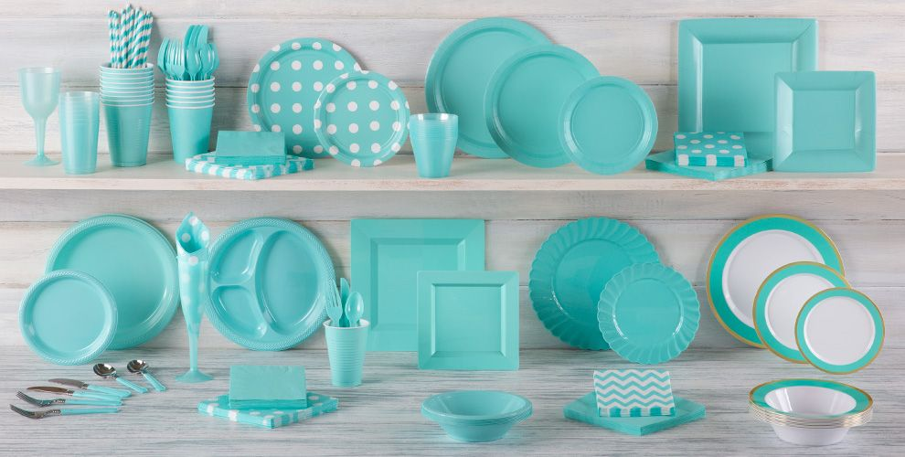 Robin's Egg Blue Solid Color Tableware
