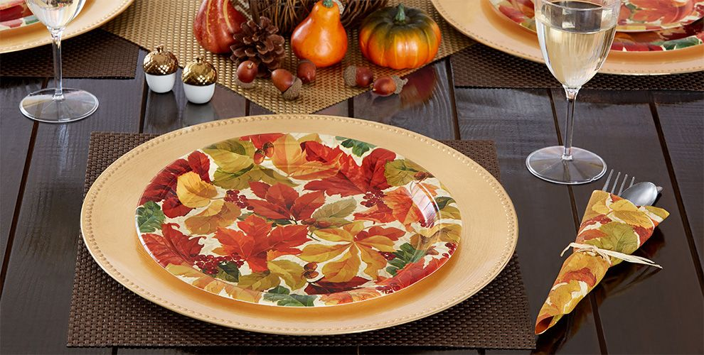 Elegant Autumn Leaves Fall Party Supplies