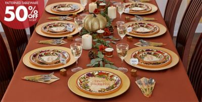 Great Patterned Tableware 50% Off MSRP U2014 Thanksgiving Medley Party Supplies ...