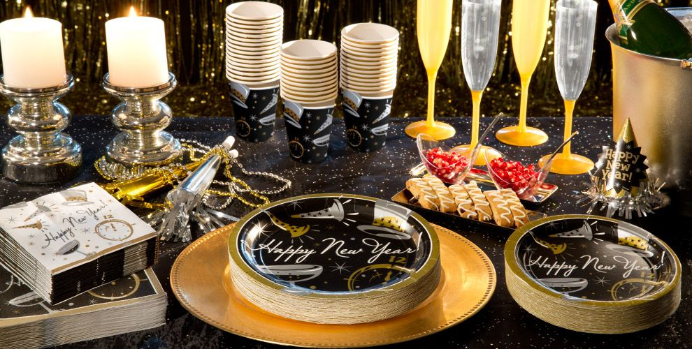 Black Tie New Years Party Supplies | Party City