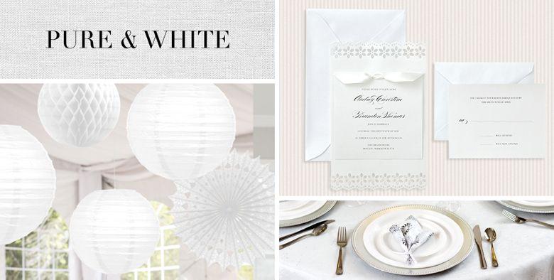 White Wedding Party Supplies