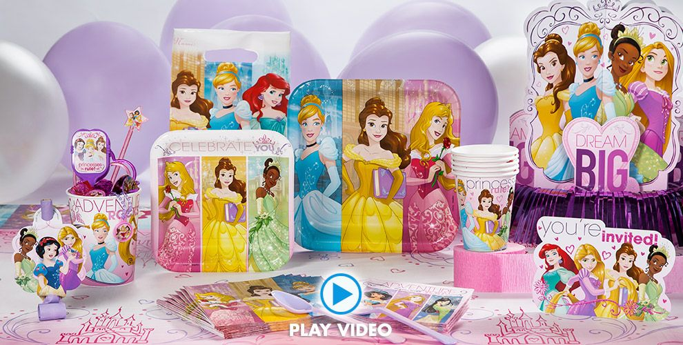 Disney Princess Party Supplies 50% off Patterned Tableware