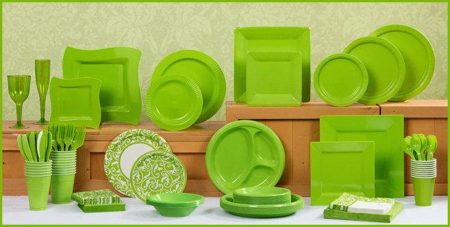 Solid Kiwi Tableware #1