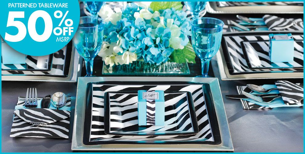 Zebra print balloons images for Animal print party decoration ideas