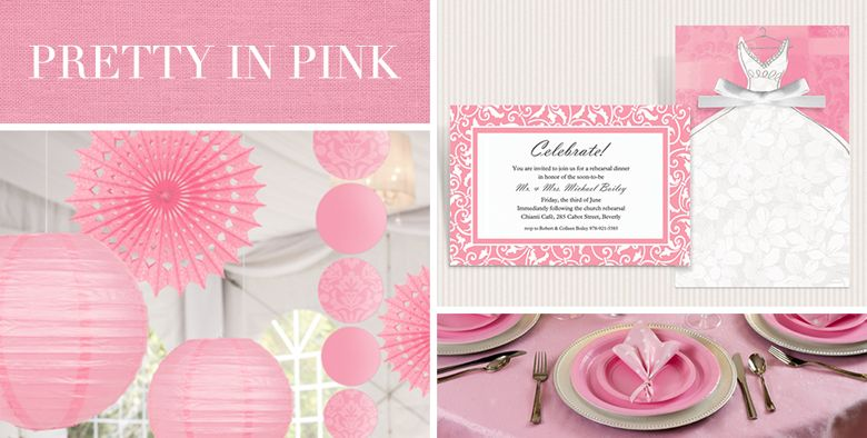 Pink Wedding Supplies