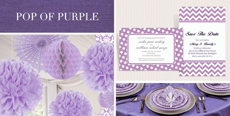 Lilac Wedding Party Supplies