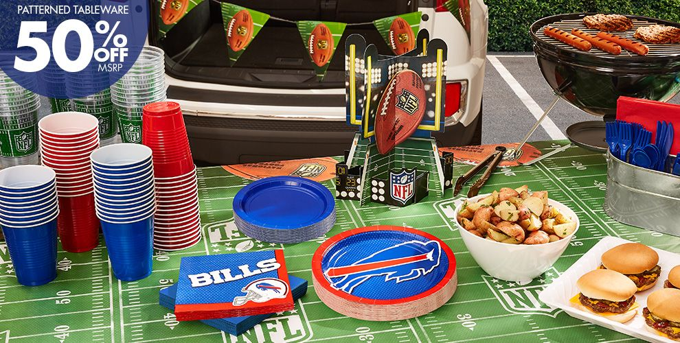 Patterned Tableware 50%off MSRP — NFL Buffalo Bills Party Supplies