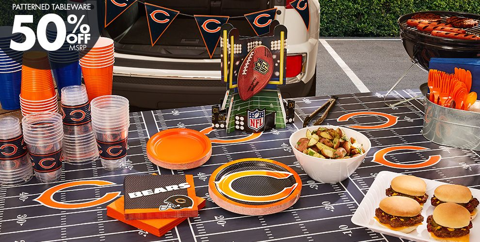 NFL Chicago Bears Party Supplies – 50% off Patterned Tableware MSRP