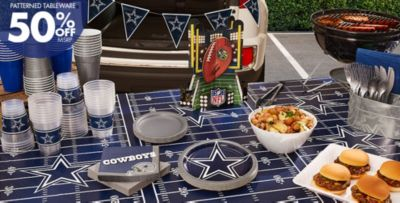 NFL Dallas Cowboys Party Supplies   50% Off Patterned Tableware MSRP ...