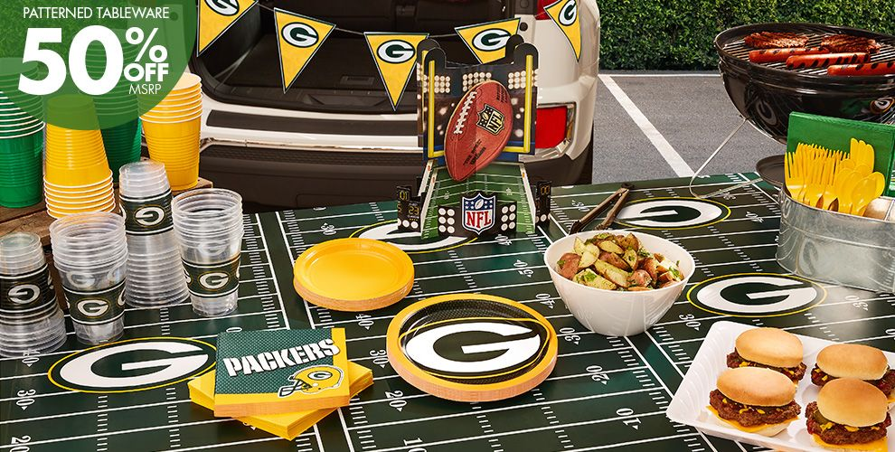 NFL Green Bay Packers Party Supplies – 50% off Patterned Tableware MSRP