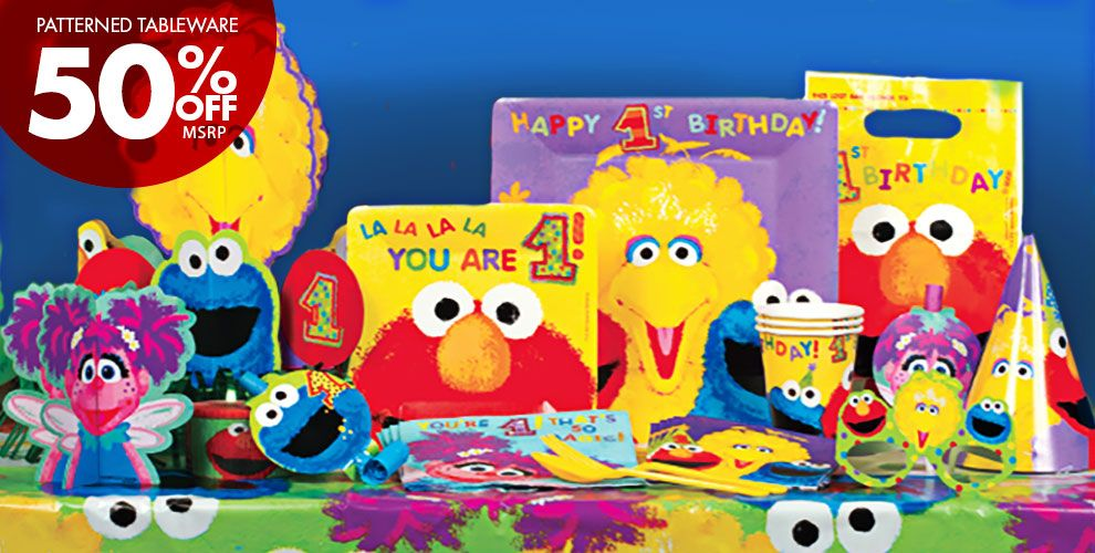 Sesame Street 1st Birthday Party Supplies