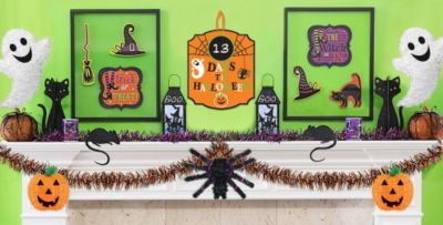 Window Cling Decorations halloween wall & window decorations – cutouts, spooky gel clings