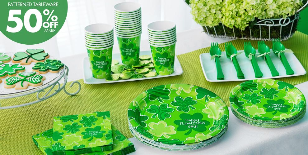 Playful Shamrocks Party Supplies