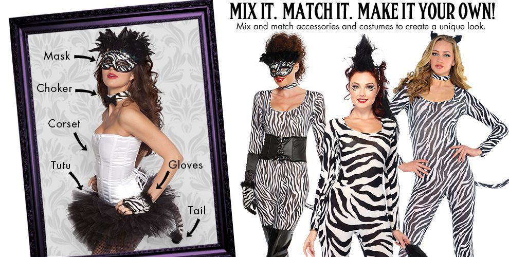 Zebra Cutie Womens Mix & Match #1
