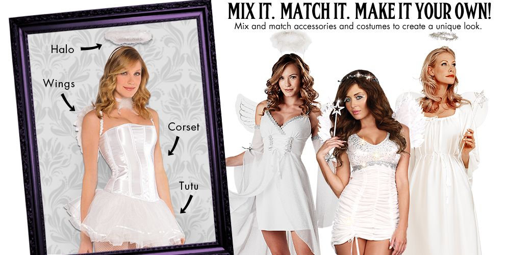 White Angel Womens Mix & Match #1