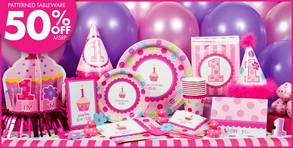 Sweet Little Cupcake Girl Party Supplies