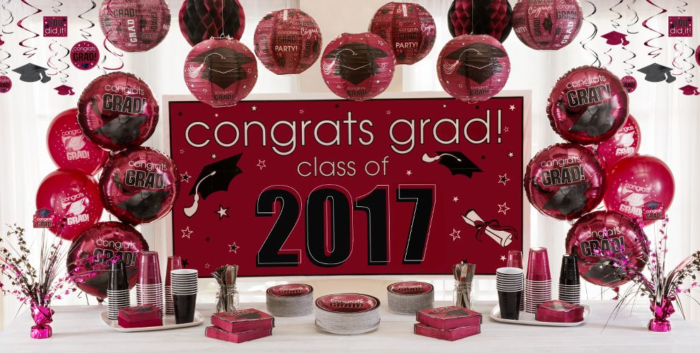 Congrats Grad Berry Graduation Party Supplies