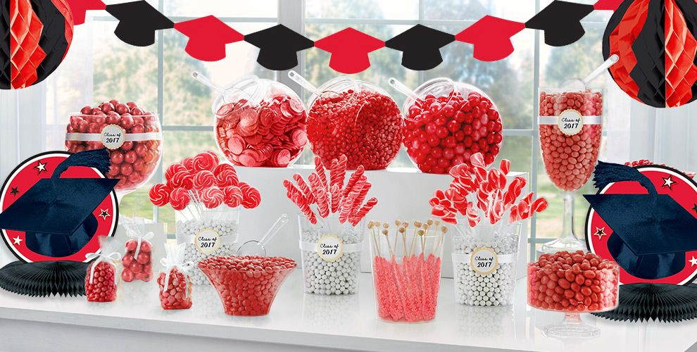 Red Congrats Grad Graduation Party Supplies
