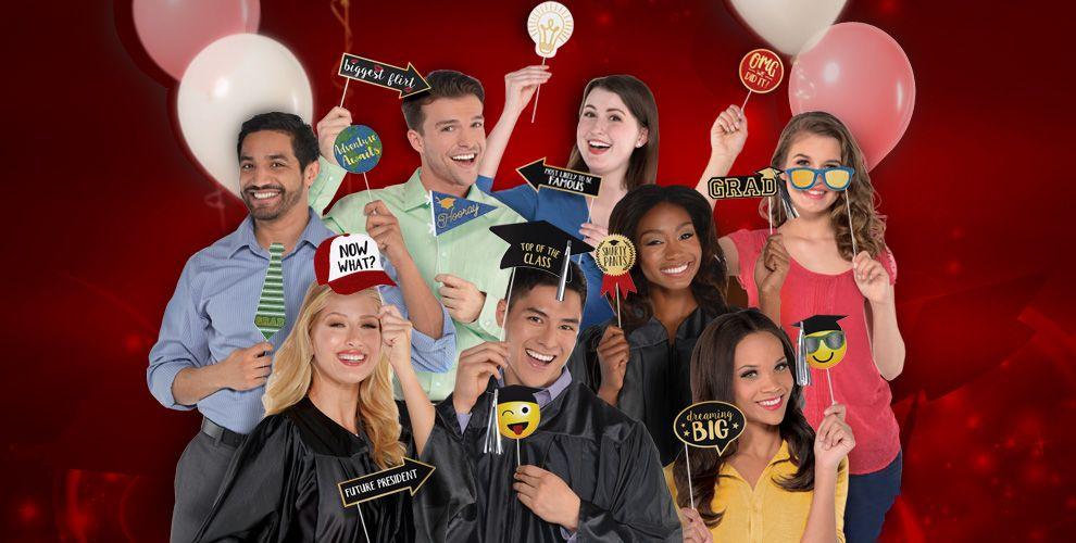 Congrats Grad Red Graduation Party Supplies — Congrats Grad 2017