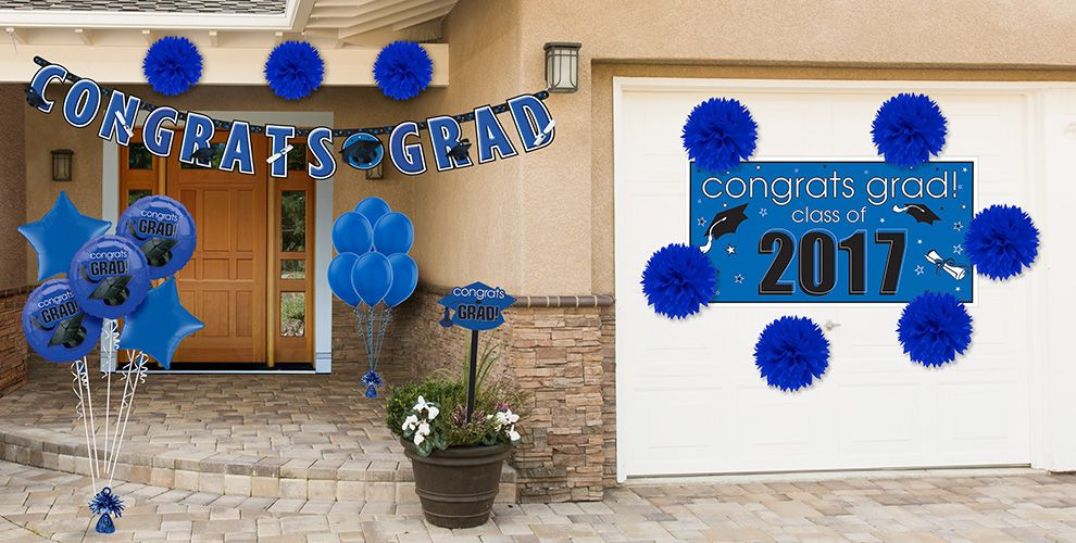 Congrats Grad Royal Blue Decorations