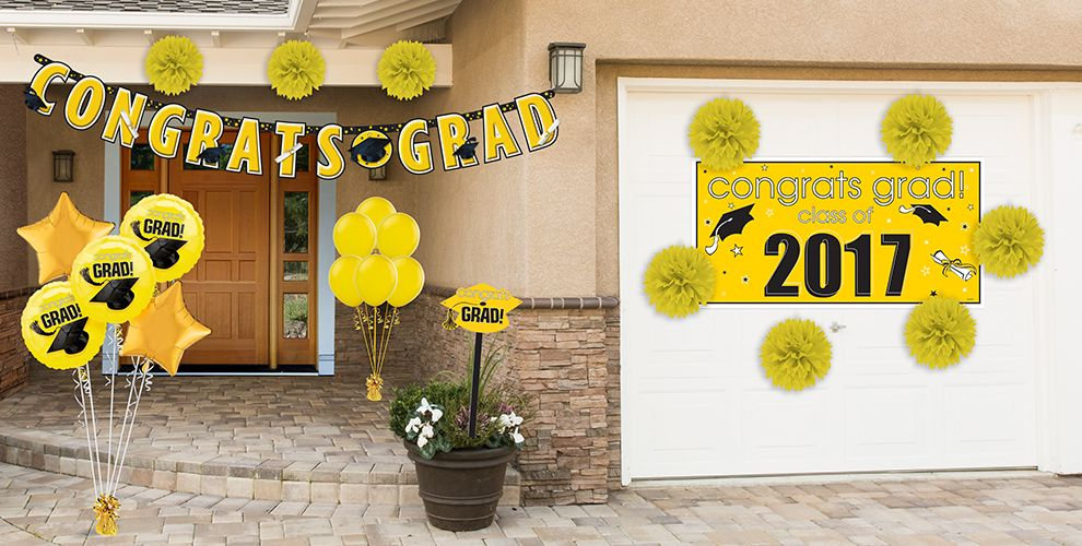 Congrats Grad Yellow Graduation Party Supplies