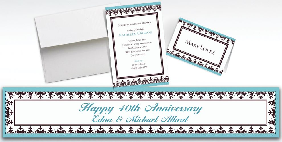 Wedding Invitations & Banners