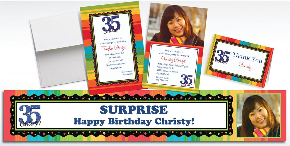 35th Birthday Invitations & Banners