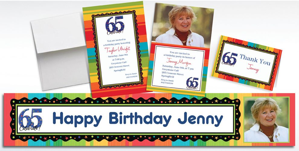 65th Birthday Invitations & Banners