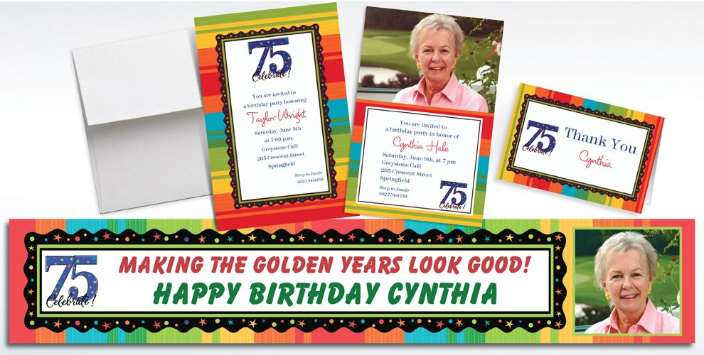 75th Birthday Invitations & Banners
