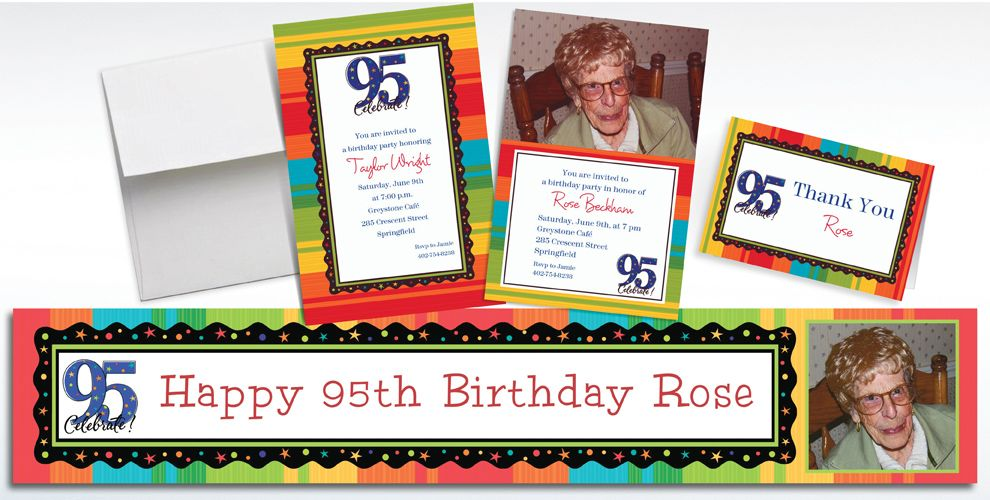 95th Birthday Invitations & Banners