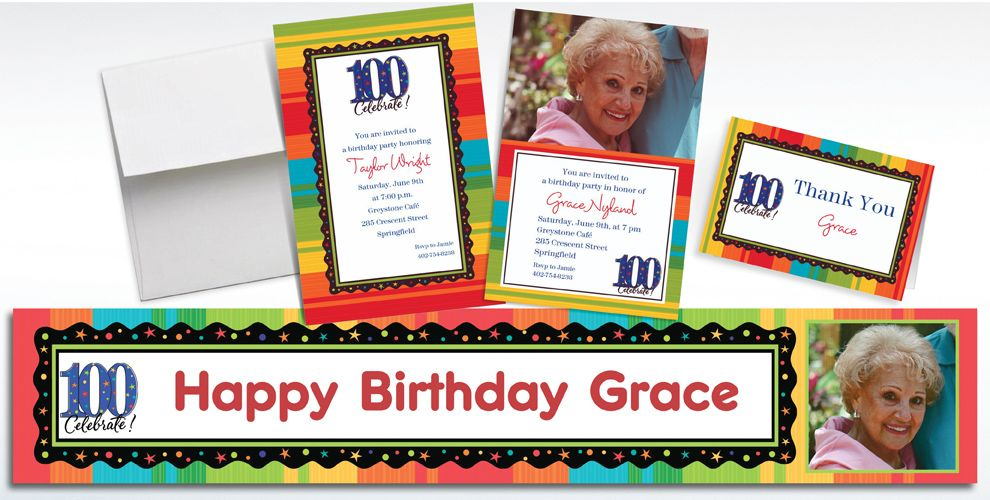 100th Birthday Invitations & Banners