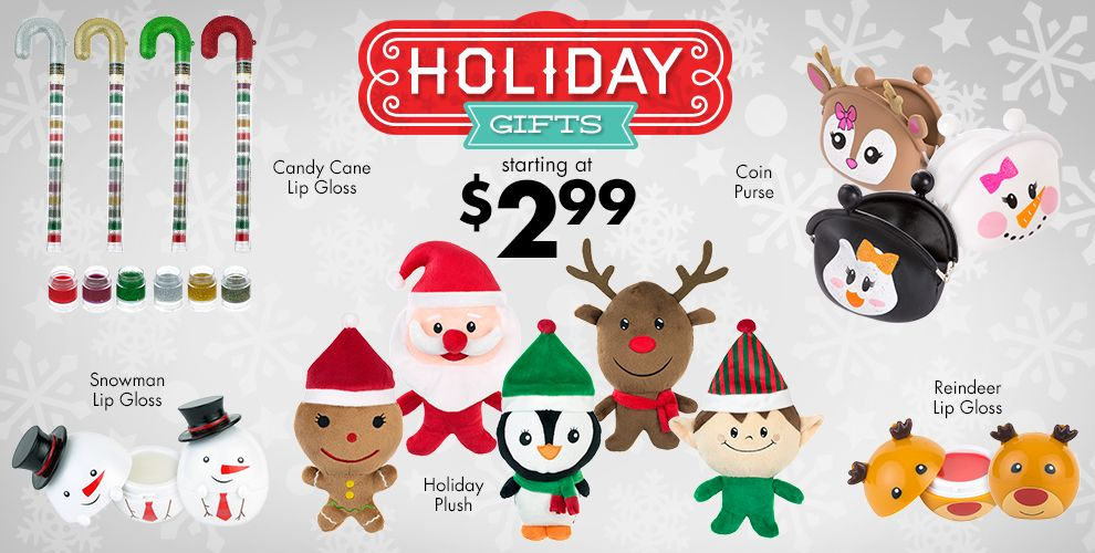 Holiday Gifts Starting at $2.99