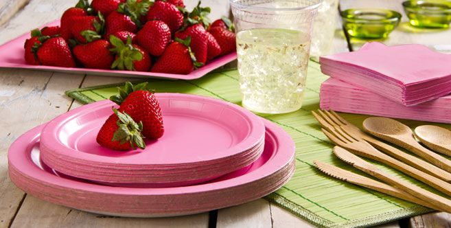 Eco Friendly Pink Tableware