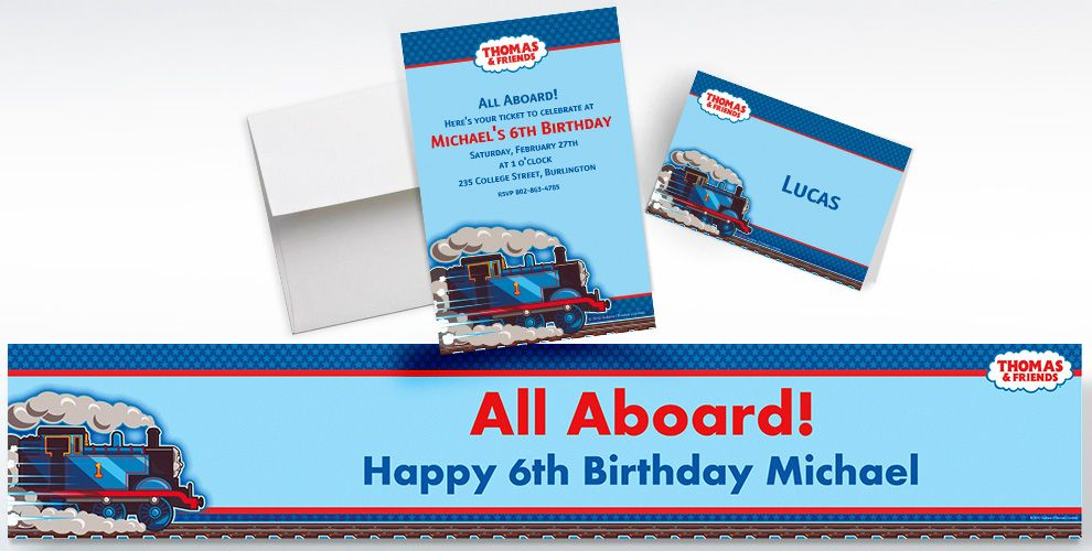 Thomas the Tank Engine Custom Invitations & Thank You Notes