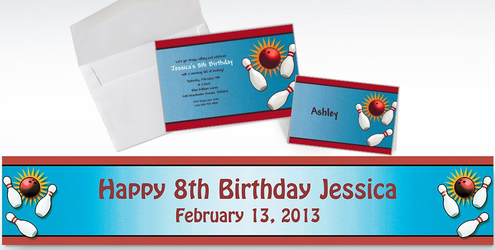 Bowling Invitations & Thank Yous