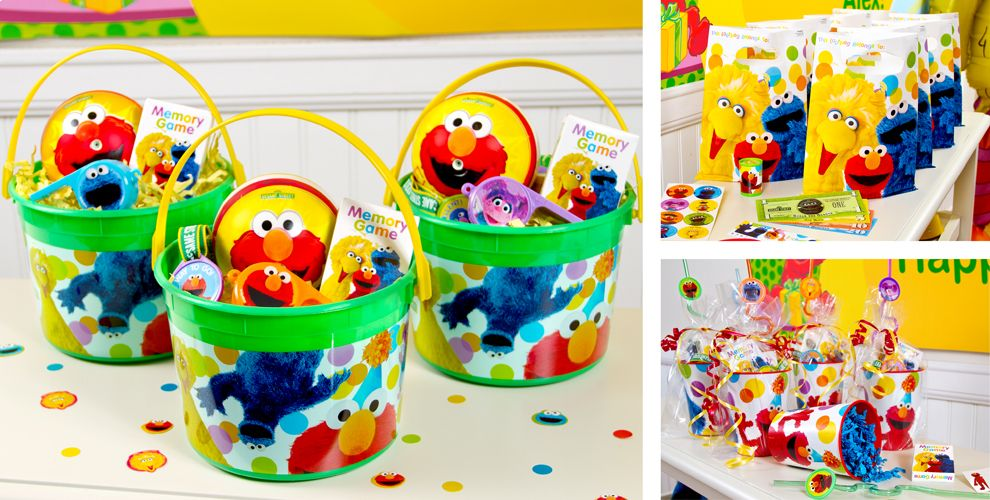 Sesame Street Party Favors - Tattoos, Bubbles, Toys & More ...