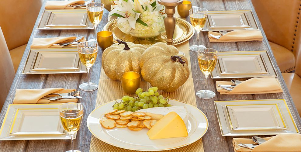 cream gold premium tableware party city canada