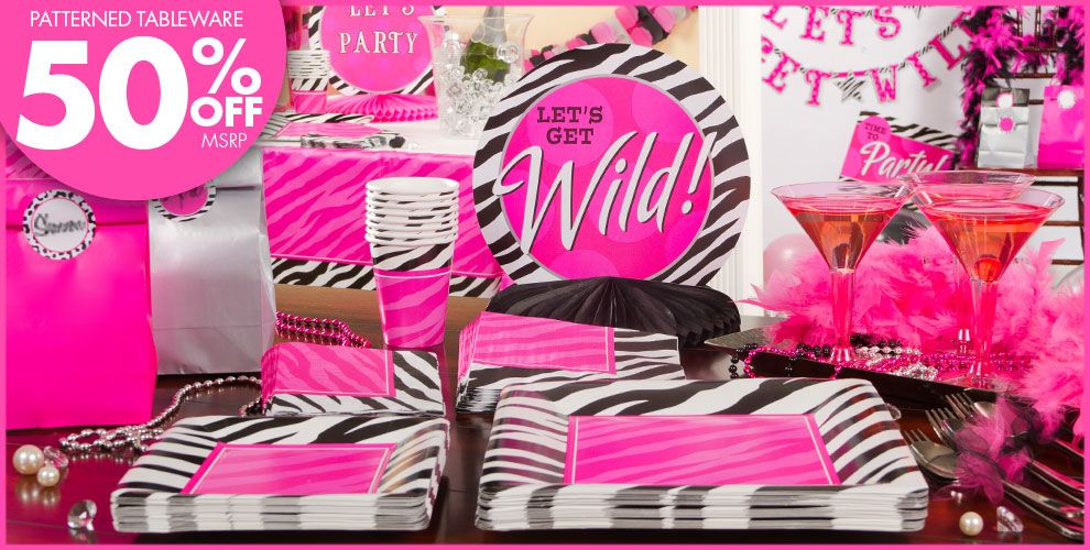 Zebra Party Personalize It Suppplies