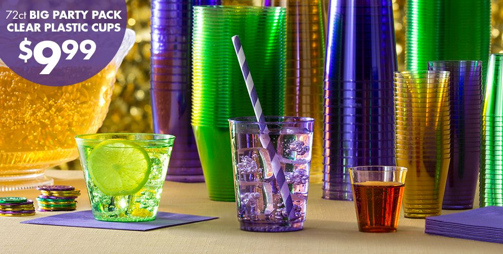 Mardi Gras Drinkware