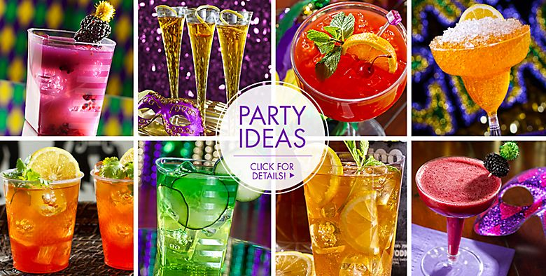 Mardi Gras Drinkware Party Ideas