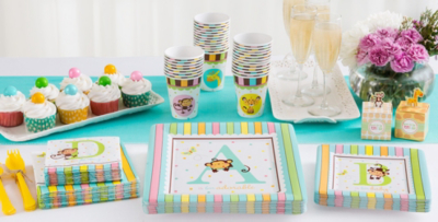 Marvelous Patterned Tableware 50% Off MSRP U2014 Fisher Price ABC Baby Shower Party  Supplies ...