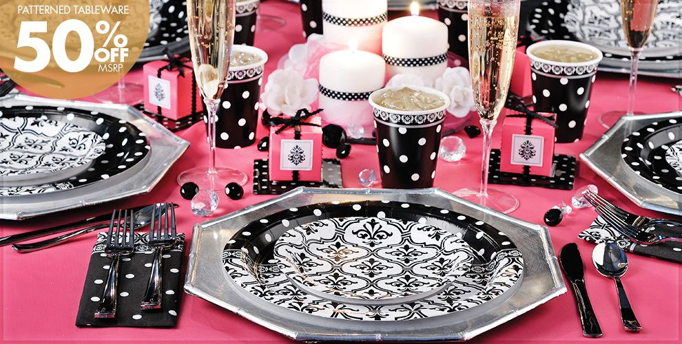 Damask & Polka Dot Party Supplies