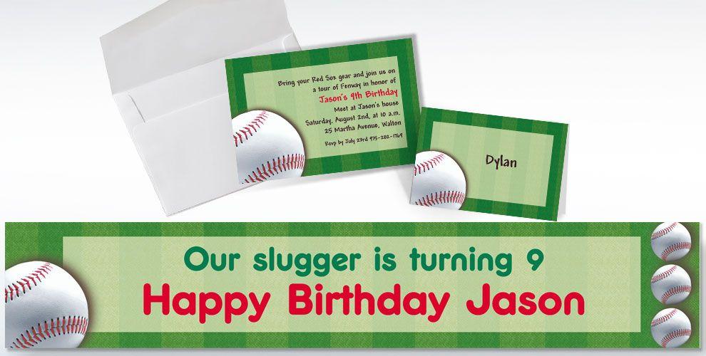 Baseball Invitations & Banners